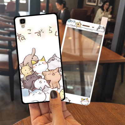 Oppor7s Mobile Shell Women All-inclusive oppor7plus Silicone r7 Mobile Phone Cases Lanyard Drop Cartoon Cute