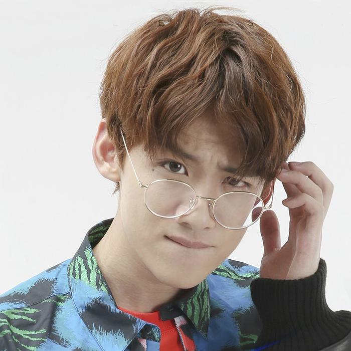 防蓝光防辐射无度数眼镜男女平面镜眼镜复古圆框平光镜原宿风眼睛