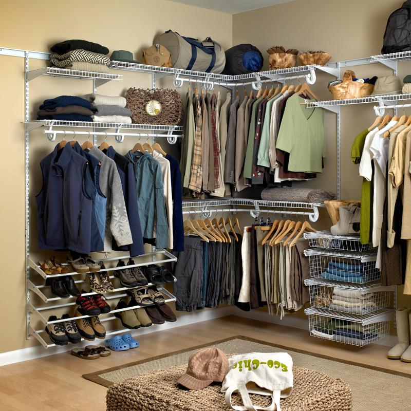 阁室美转角走入式衣帽间整体衣柜L型定制