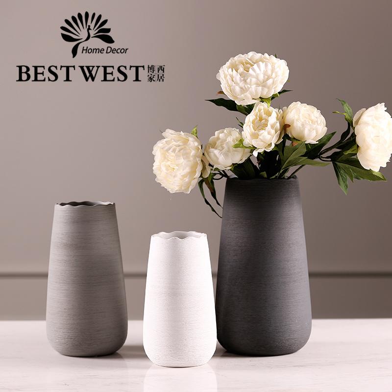 Minimalistas De Ceramica Jarrones De Flores Secas Europea Es - Jarrones-con-flores-secas