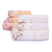 1浴巾+2毛巾套装三件套吸水洗脸面巾不掉毛成人男女礼品可配礼盒