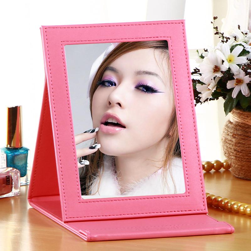 雅皮仕台式化妆镜粉色大概