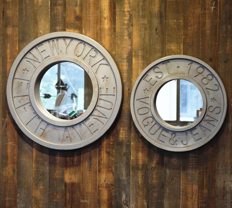 美线空间复古圆形装饰镜259