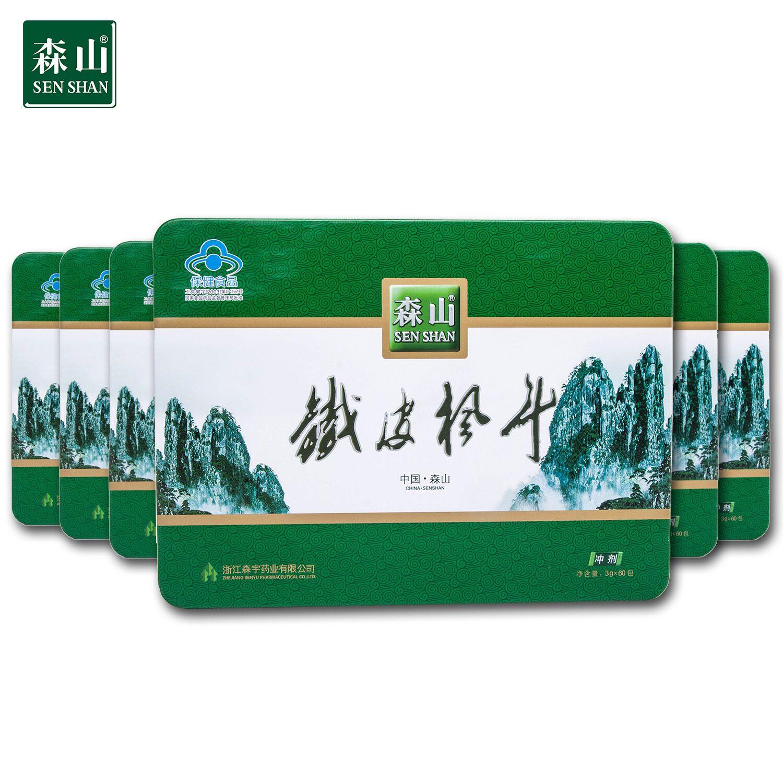 森山牌铁皮枫斗冲剂 3g-包*60包-盒*6盒套餐半年装