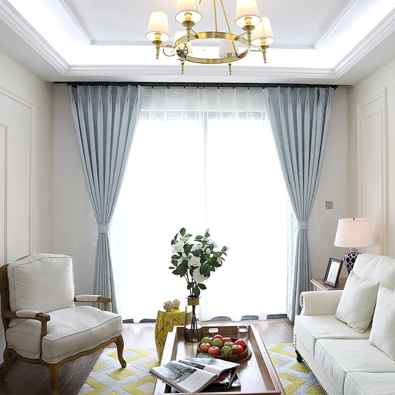 福玛瑞纯色棉麻窗帘成品落地窗FMR170408