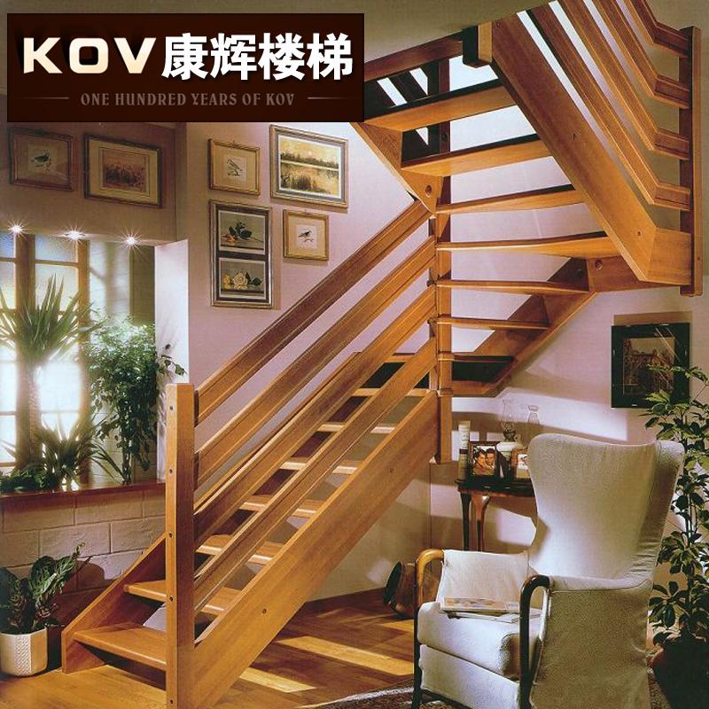 康辉楼梯扶手木之纯恋实木楼梯