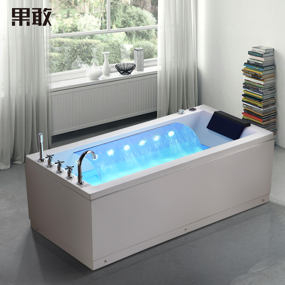 chute d eau chauff e intelligent bold surf acrylique baignoire adulte c libataire jacuzzi 268. Black Bedroom Furniture Sets. Home Design Ideas