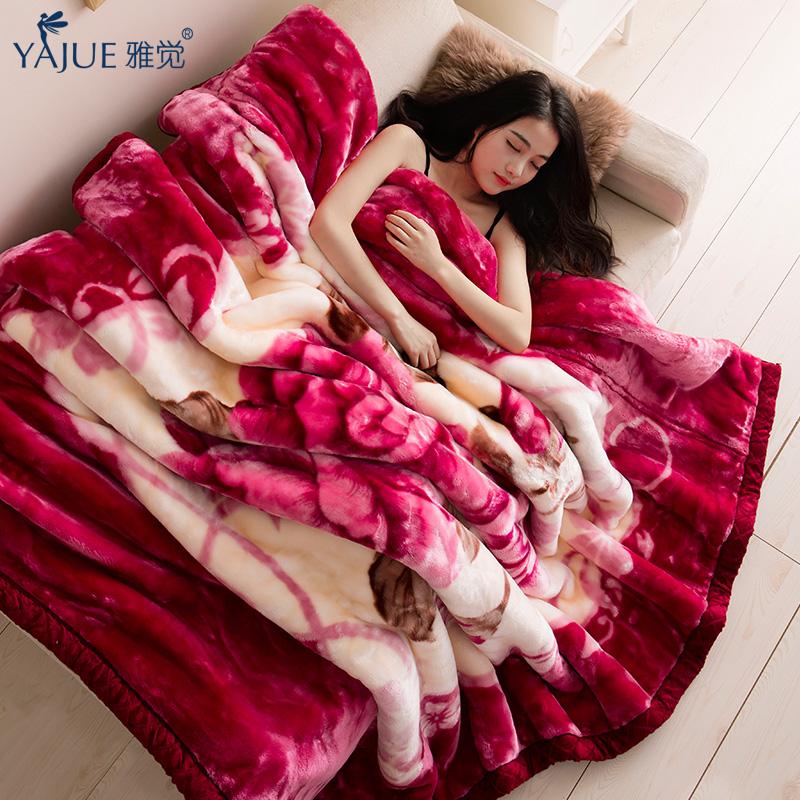 雅觉9斤拉舍尔毛毯YJLSR1801