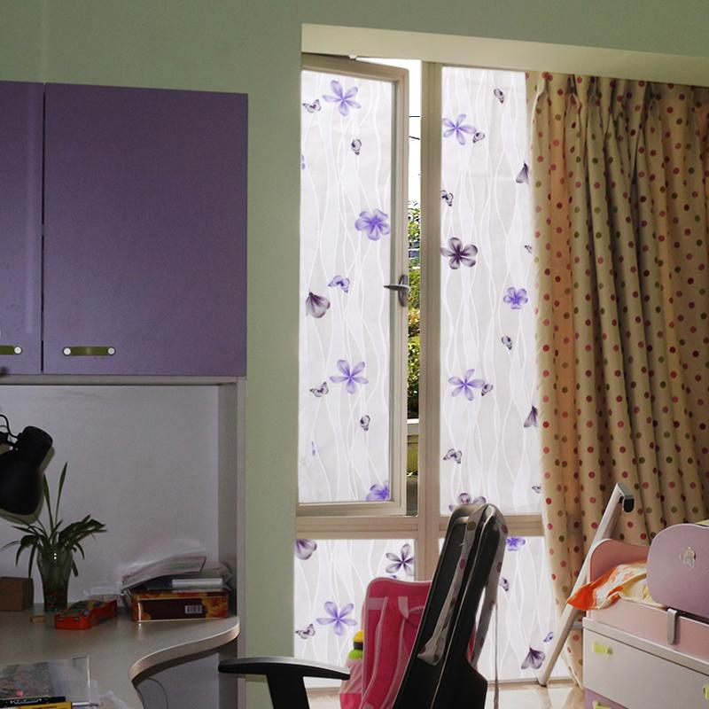 a卧室窗户贴纸浴室不透明窗贴透光玻璃贴纸中式贴膜深色玻璃