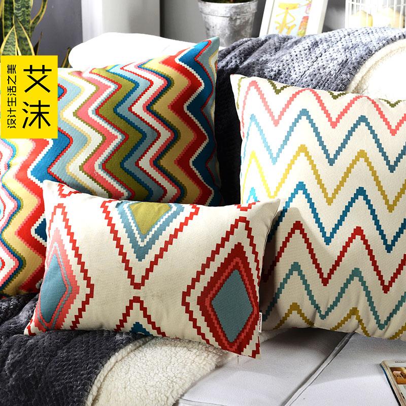 艾沫棉沙发靠垫套kdt-boxiya