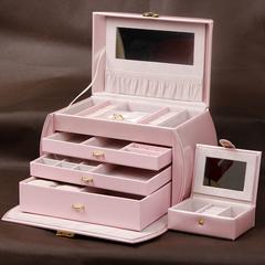 米拉蒂首饰盒欧式公主韩国 带锁手饰盒 首饰木质手表收纳盒珠宝盒