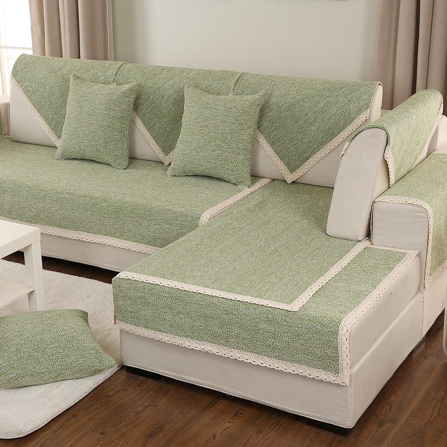 罗兰妮简约现代棉麻沙发垫lln0001