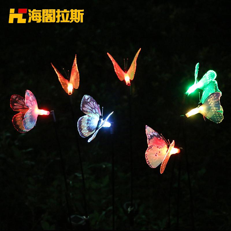 海阁拉斯led太阳能蝴蝶插地灯52124