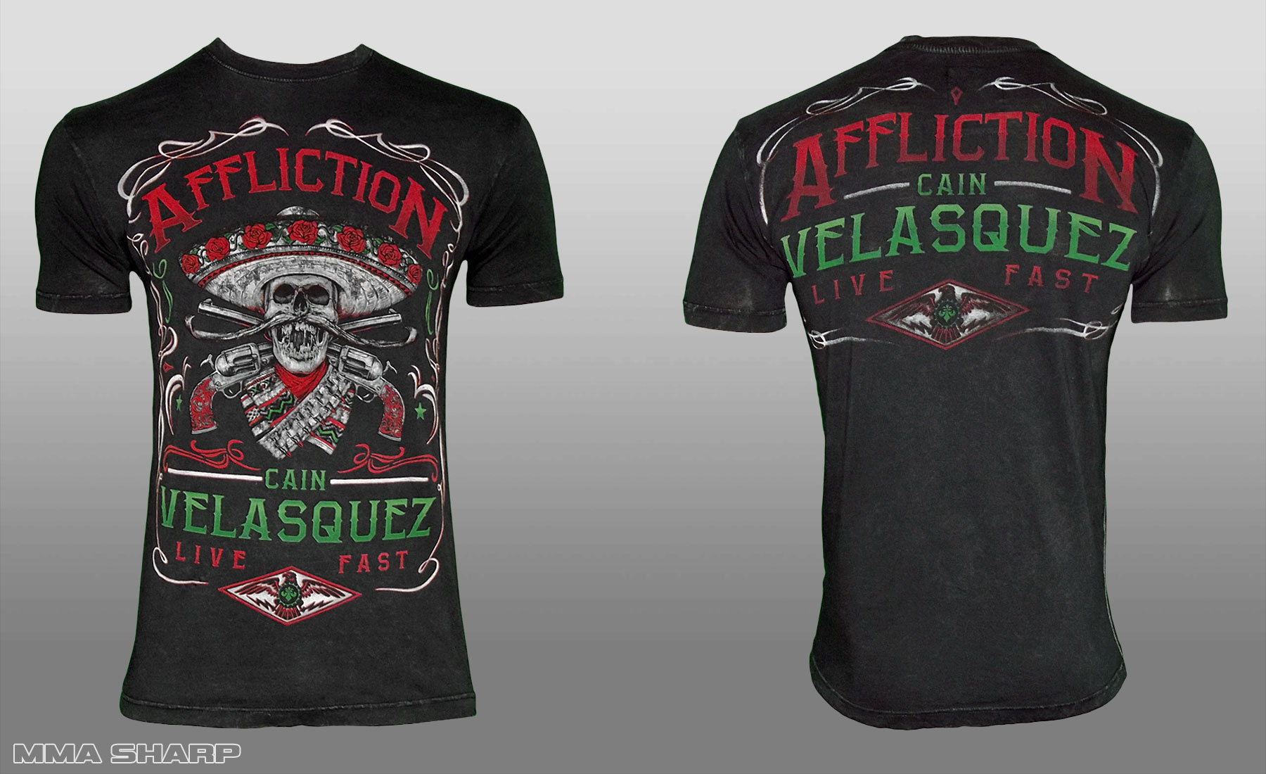 Футболка мужская MMA 193 Affliction Youth Cain Velasquez Caudillo UFC 188 Shirt