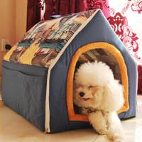 泰迪狗窝 可拆洗小型犬比熊宠物狗窝 折叠狗房子狗屋猫窝宠物用品