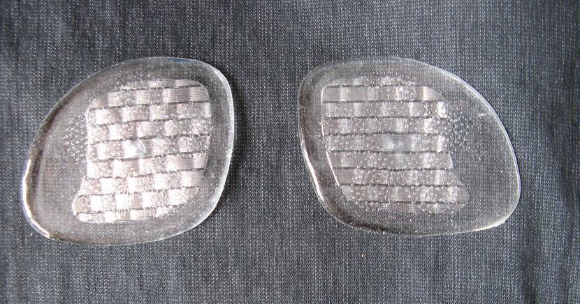 Аксессуар Прозрачный силиконовый коврик для стопы/половина двор из мягкой и удобной колодки ноги ** красивые плюс размер магазины