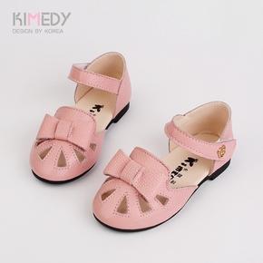 2017新款韩版女童可爱包头小皮鞋