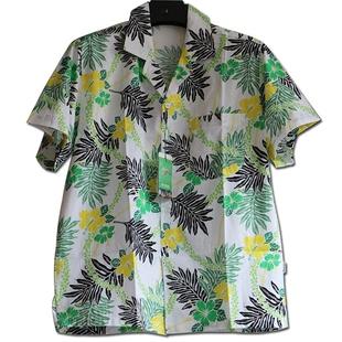 海南岛服衬衫男夏海滩度假三亚旅游衣服制服衬衣女情侣度假沙滩服