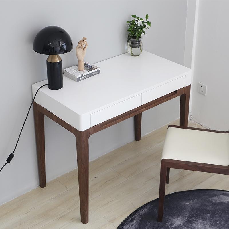 小户型北欧书桌家用写字台简约现代书房家具学习桌笔记本电脑桌子