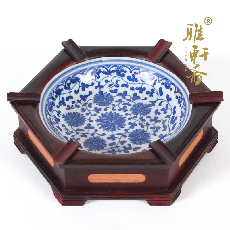 雅轩斋创意紫檀工艺品烟缸yxz-jj-yg-008
