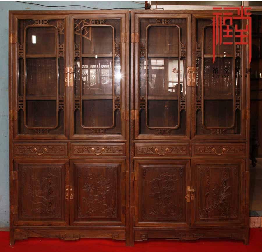 禧堂硬木红木古典家具书柜JCMSG7