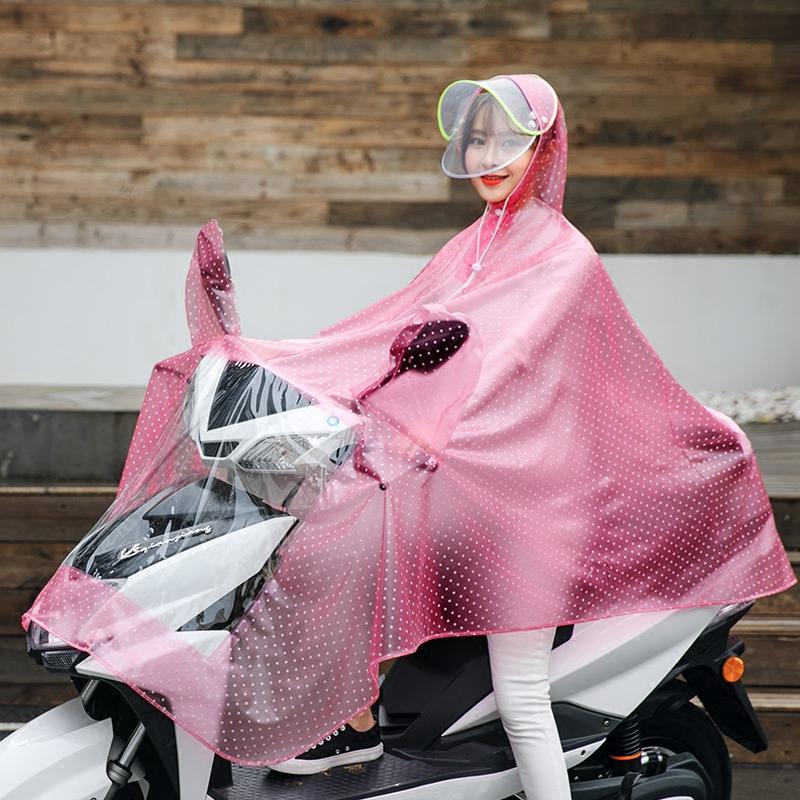 电动摩托自行车雨衣单人雨披户外骑行男女士成人韩国时尚透明加大