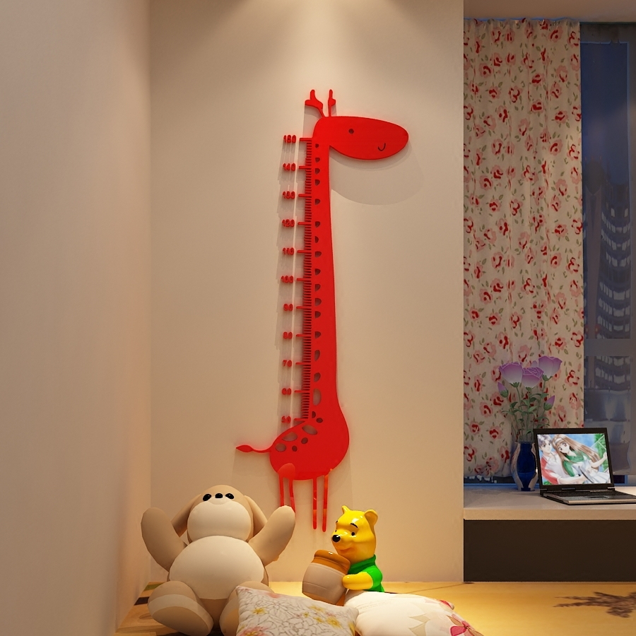 アクリル3 d立体壁はキリンの身長を貼って子供の部屋の幼稚園のアイデアの赤ちゃんの量の高い装飾品を貼る,タオバオ代行-代行奈々