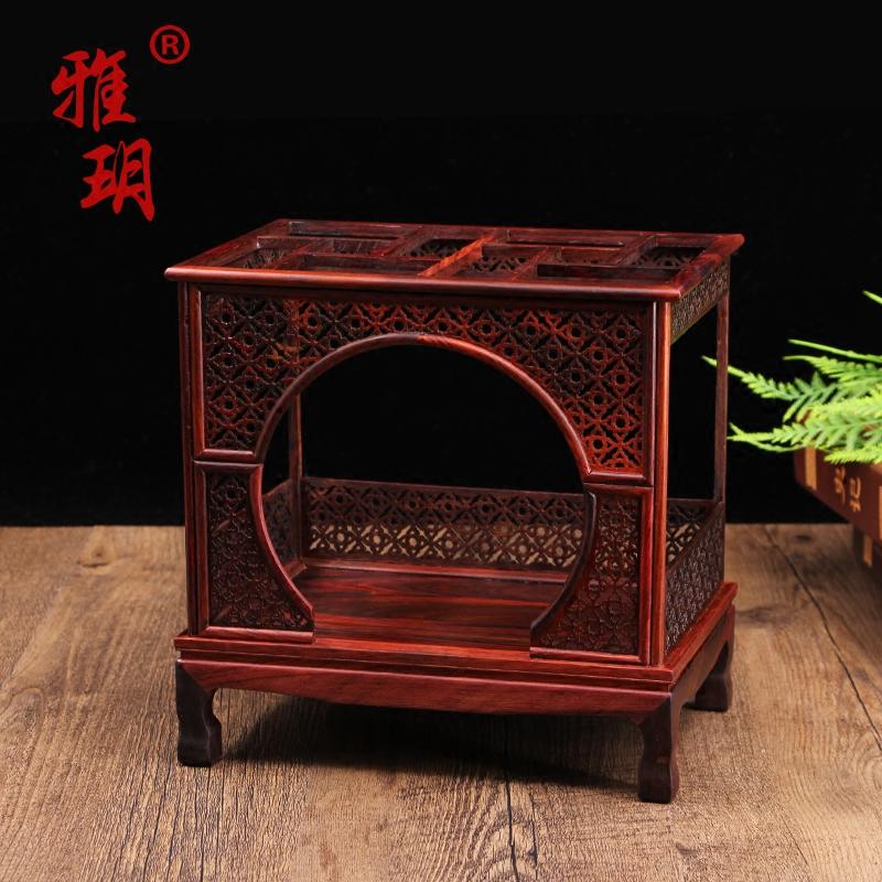 微缩家具模型床小摆件仿真迷你家私红木中国古式木质紫檀木工艺品