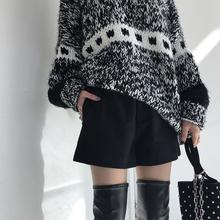 【钱夫人】韩版毛呢短裤 女秋冬打底裤