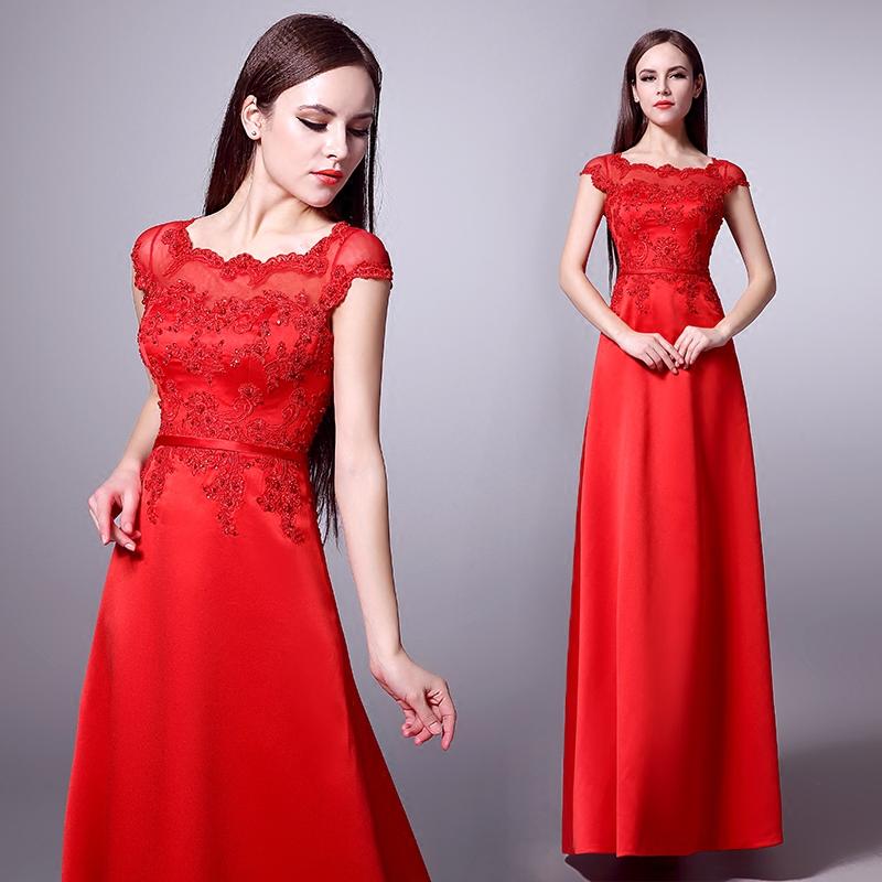 Атласной вечерний платье