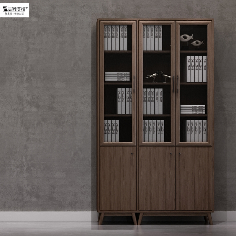 辰帆博雅 2门3门多门组合书柜书房卧室家用办公室落地实木书柜
