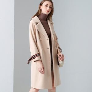 2017冬季新款中长款学生韩版毛呢大衣