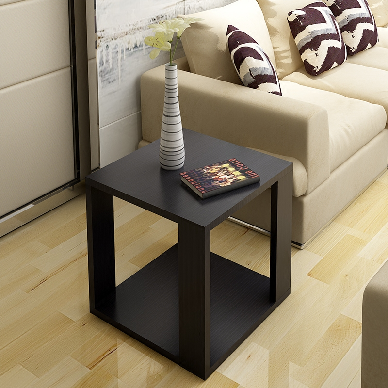 Simple modern wooden small coffee table sofa corner several square table  small apartment living room coffee table bedroom bedside table