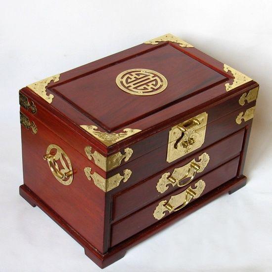 雅轩斋红木首饰盒配镜子2012010301