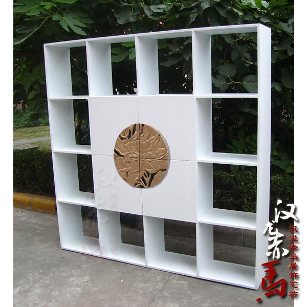 汉龙赤马东方新中式金色书柜J014