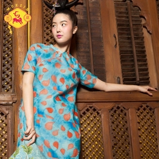 Cheongsam dress Secret fan q2018
