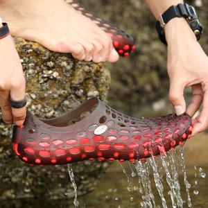 鞋男夏季沙滩鞋情侣款<span class=H>凉拖</span>鞋包头<span class=H>凉拖</span>鞋透气镂空网布鞋女鞋