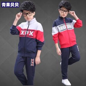 中大童男装13男童夏装套装10男孩12学生运动两件套服春秋季15岁胖