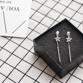 韩国气质耳环长款纯银耳钉女五角星