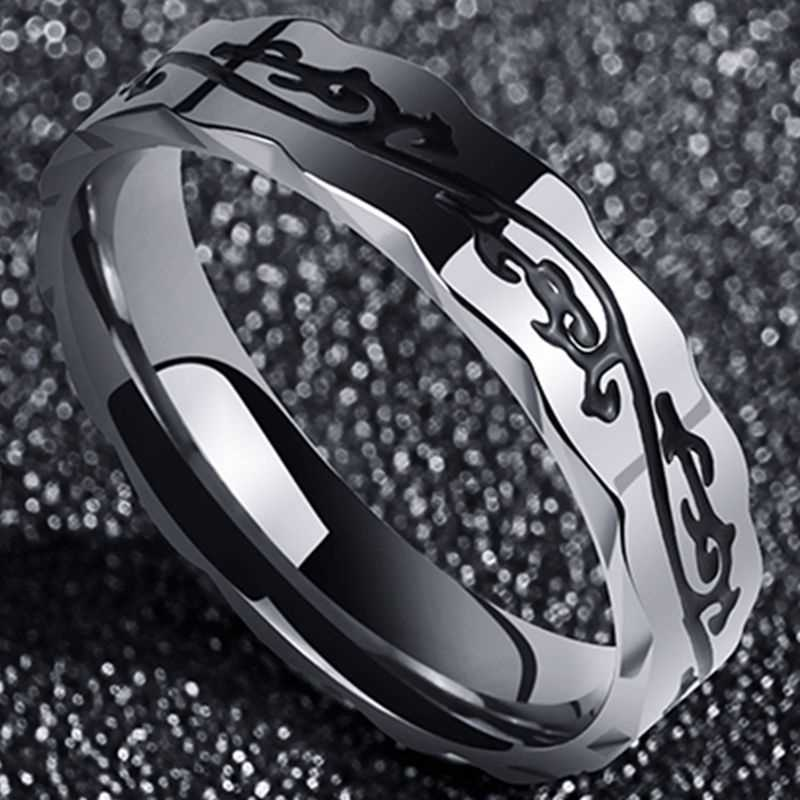 Titanium steel Men's Ring Korean version of personality Boomers net red students male quit single index finger ring tide simple tail ring Pinkie