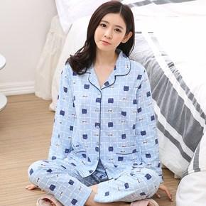 女士长袖睡衣套装
