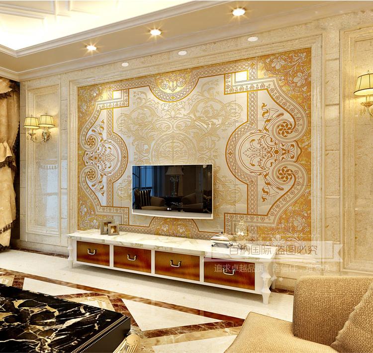 欧式瓷砖背景墙3d电视背景墙瓷砖客厅微晶石墙砖雕刻