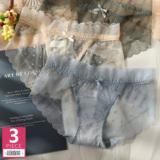 蕾丝波点内裤女士纯棉裆日系少女款性感网纱半透明透气圆点三角裤