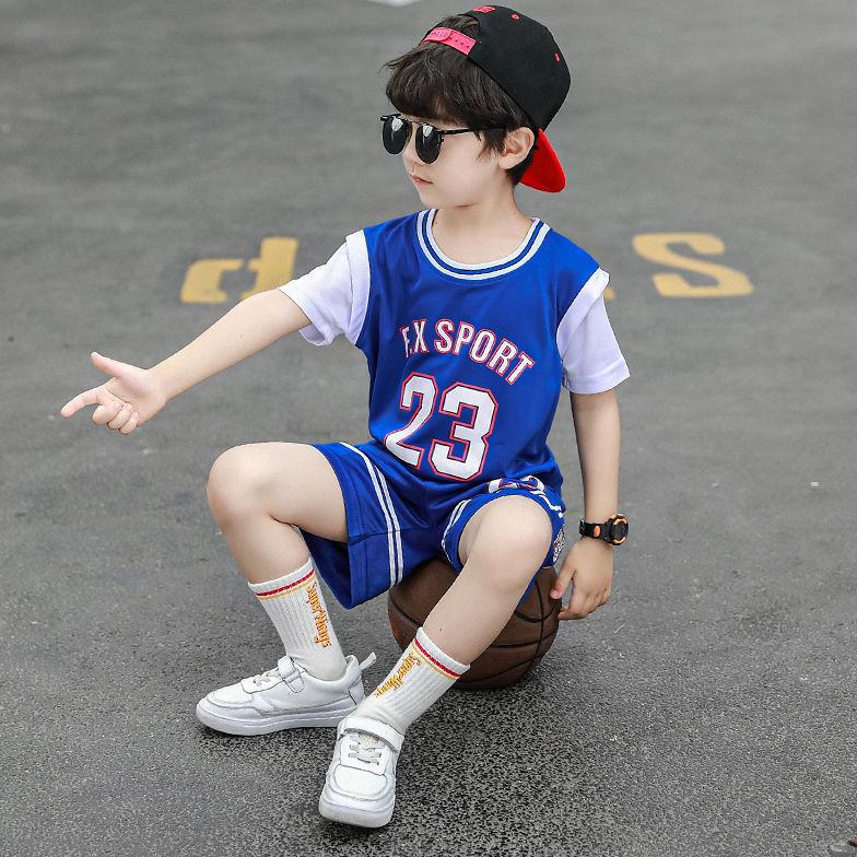儿童夏装篮球服速干套装阳光帅气中大童短袖运动两件套小学生球衣