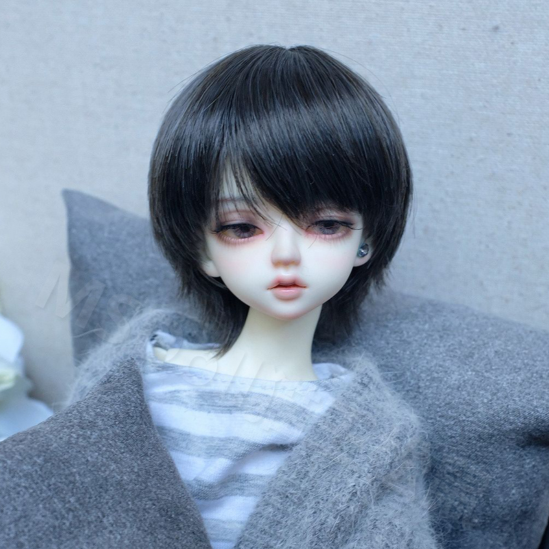 包邮 猫王松鼠 BJD/SD娃娃假发 346分男款日常短发好撸高温丝假毛