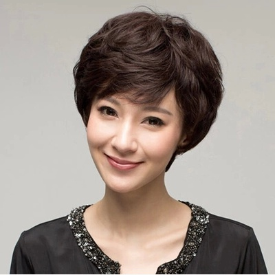 包邮阿姨女发短发女中老年假发女卷发妈妈假发女士假发套