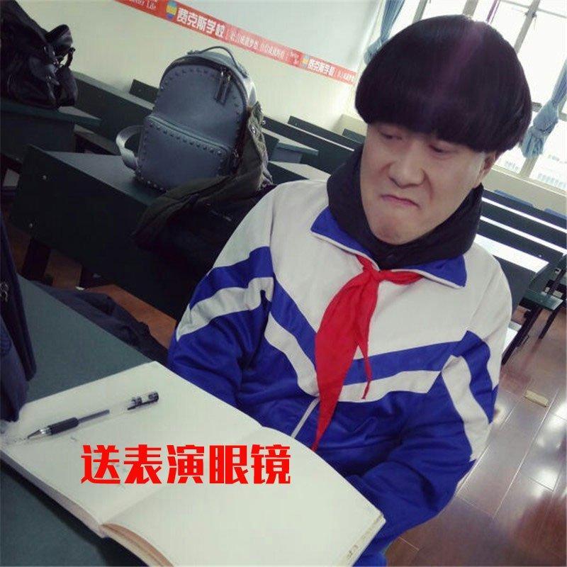 。西瓜头假发男短发韩版帅气蘑菇头表演锅盖头假发时尚假发头套