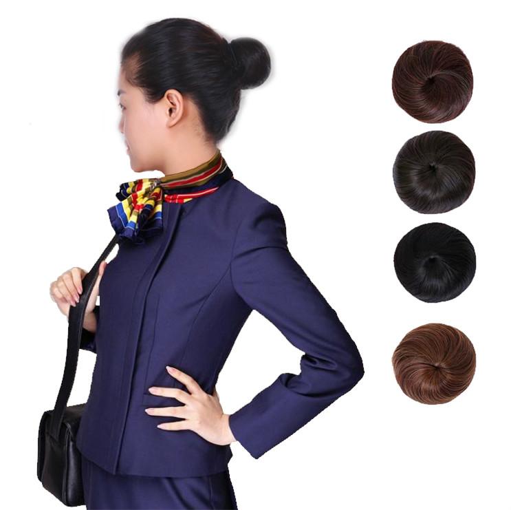 航空公司空姐乘务员假发包短发丸子头盘发器花苞头卷发圈假发女