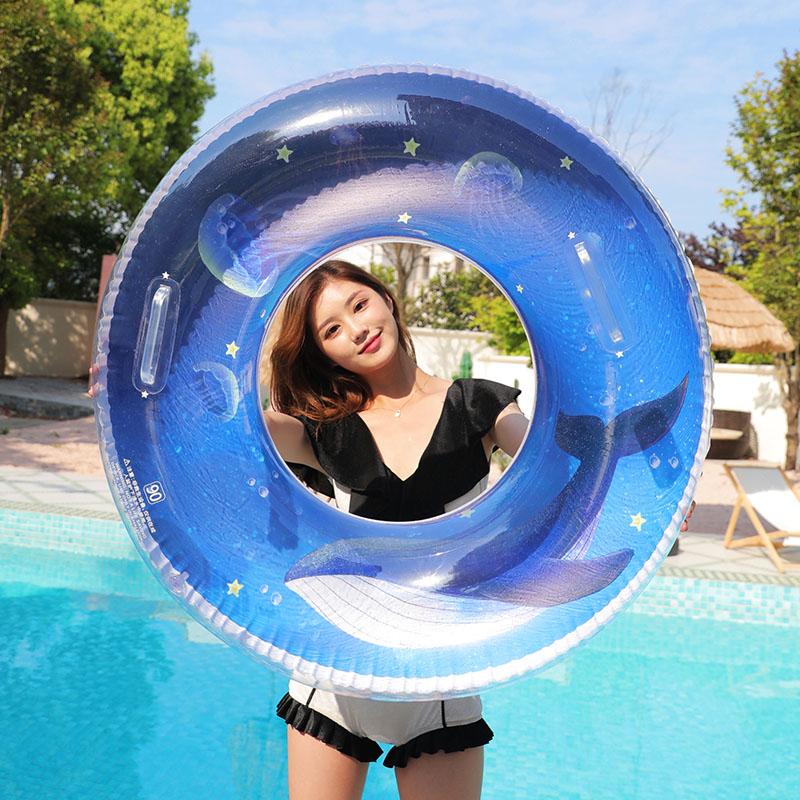 游泳圈大人加厚男女充气网红ins儿童3-4-6岁泳圈成人便捷游泳装备