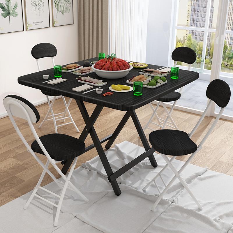 折叠桌正方型轻便家用小户型出租屋吃饭餐桌便携式摆摊户外小桌子